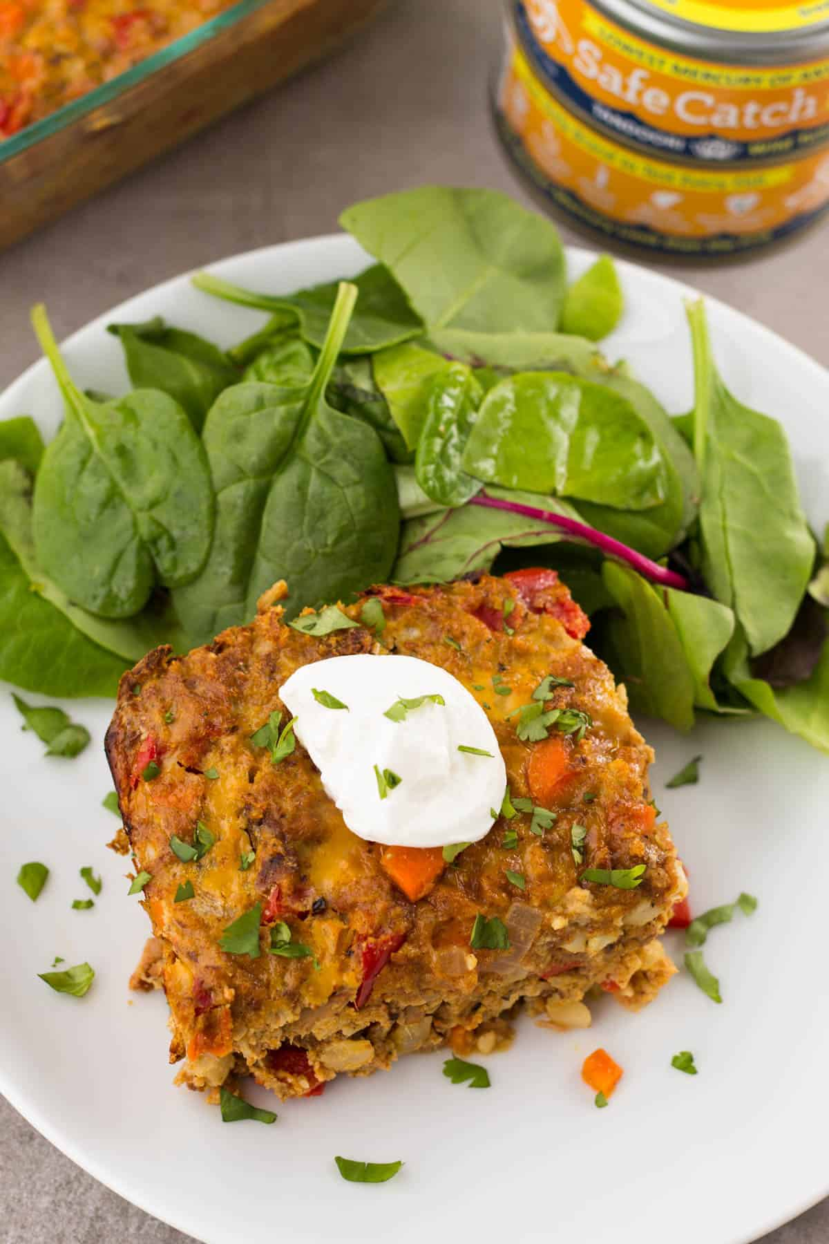 This Tandoori Tuna Casserole packs the flavor and makes an easy and healthy weeknight or meal prep dish that is gluten free, paleo, and Whole30 approved! - Eat the Gains