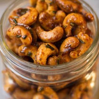 Honey Rosemary Roasted Cashews