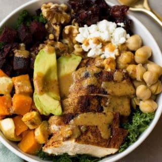 Fall Veggie Chicken Power Bowl