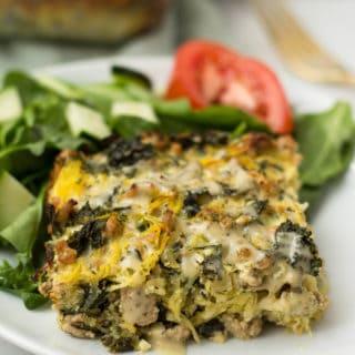 Turkey Kale Ranch Casserole