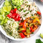 Chicken Burrito Bowl Pinterest image