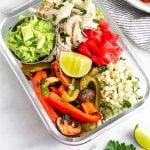 Chicken Burrito Bowl Pinterest image