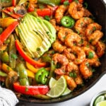 Shrimp Fajitas Pinterest image
