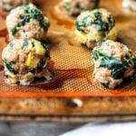Turkey Apple Meatballs Pinterest image