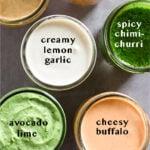 Vegan sauces Pinterest image