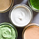 Healthy sauces Pinterest image