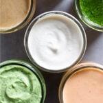 Healthy sauces Pinterest image