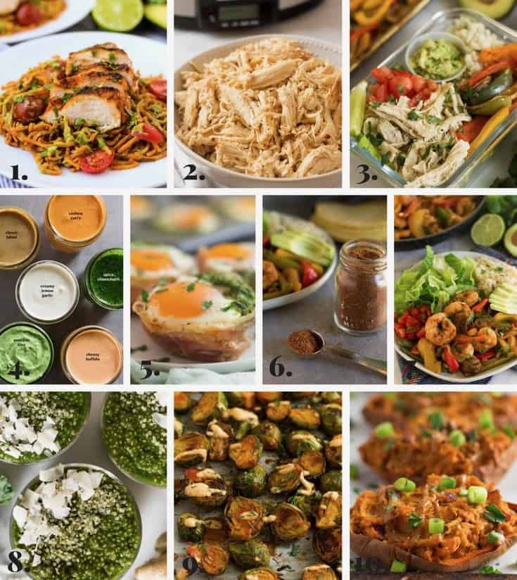 Collage of all my recipes I made in January