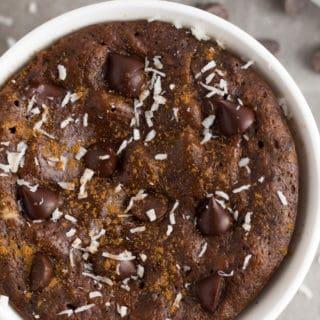 Paleo Healthy Chocolate Protein Mug Cake