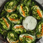 Asparagus Collard Wraps with Whipped Feta