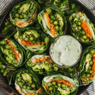 Asparagus Collard Wraps with Whipped Feta