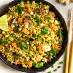 Broccoli fried rice recipe Pinterest image