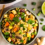 Vegetable fried rice Pinterest image