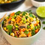 Riced broccoli fried rice Pinterest recipe