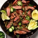 One Pan Steak Fajita Lettuce Wraps