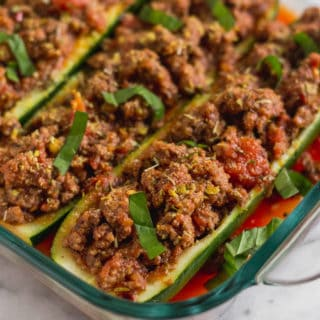 Whole30 Italian Beef Zucchini Boats