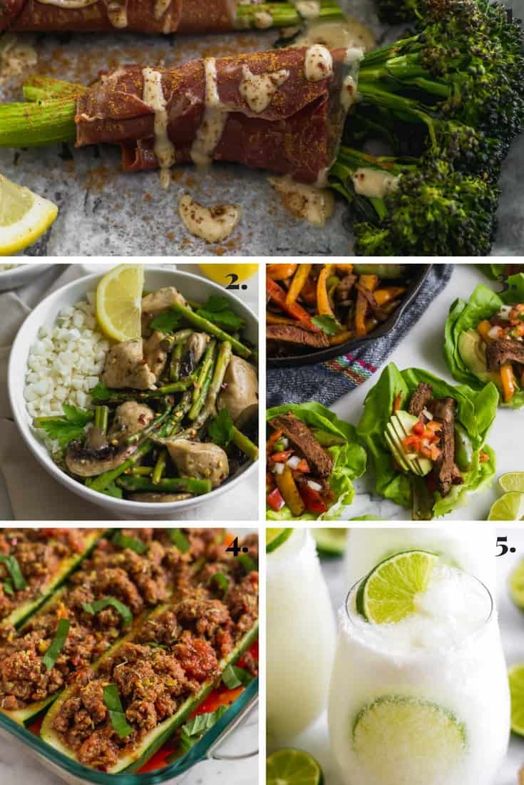 Collage of all the recipes made on Eat the Gains in April