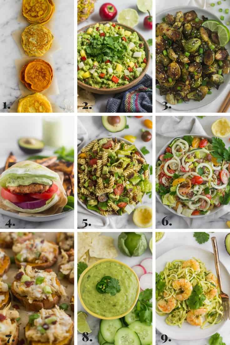 Collage of all the recipes made on Eat the Gains in May