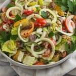 PaleoBLT Zucchini Noodle Pasta Salad Pinterest Image
