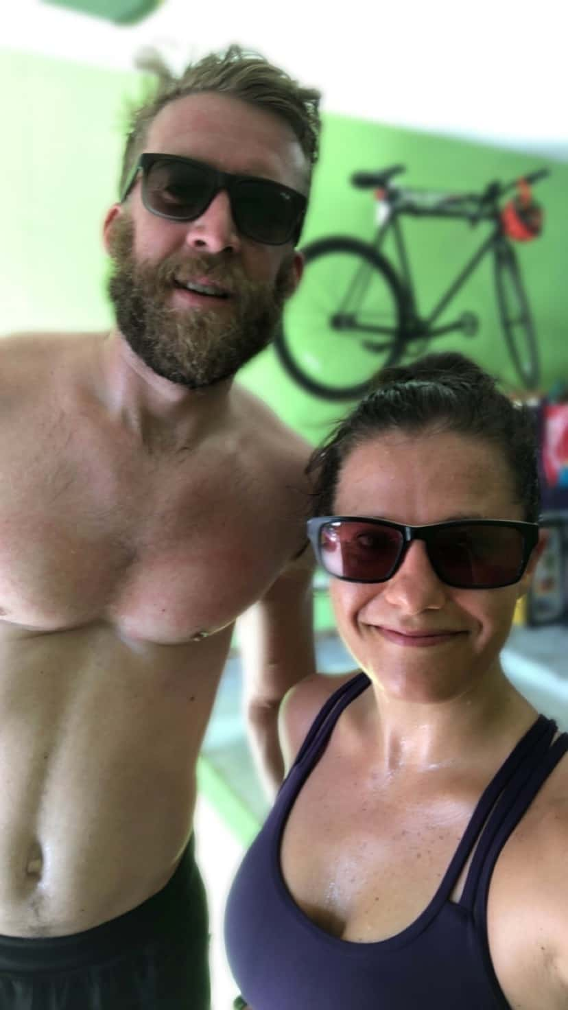 Couple post Murph workout