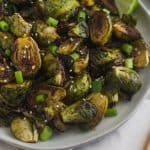Miso Glazed Brussels Sprouts Pinterest image