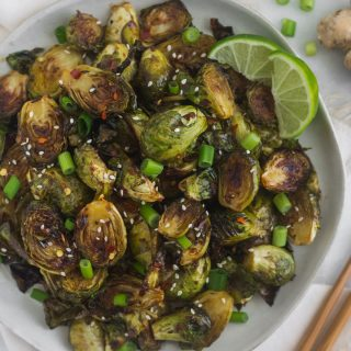 Miso Glazed Brussels Sprouts