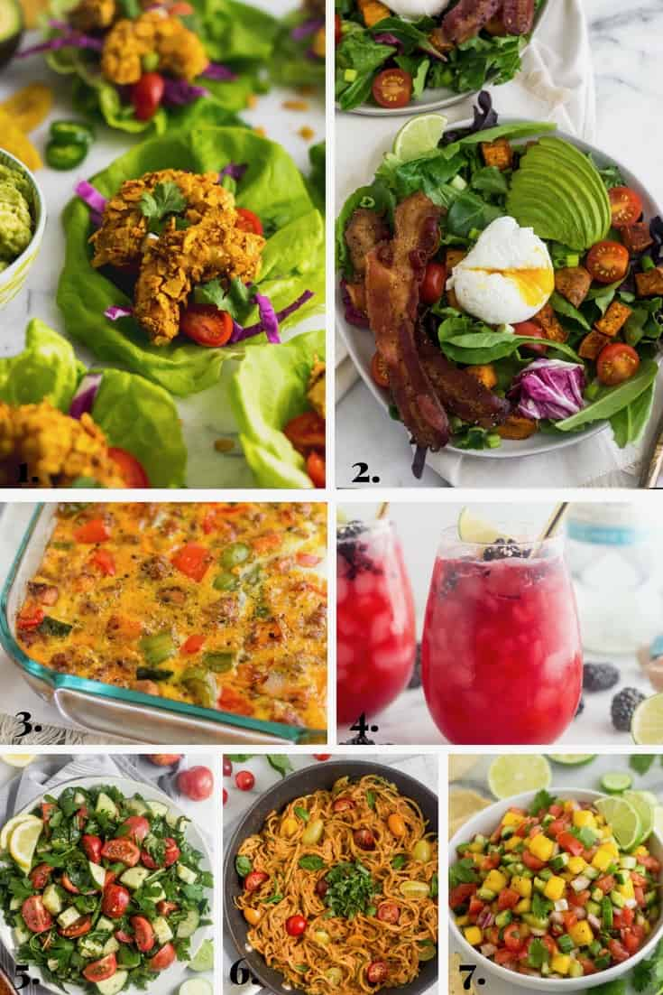 Collage of all the recipes made on Eat the Gains in June