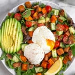 Whole30 Breakfast Salad with Poached Eggs