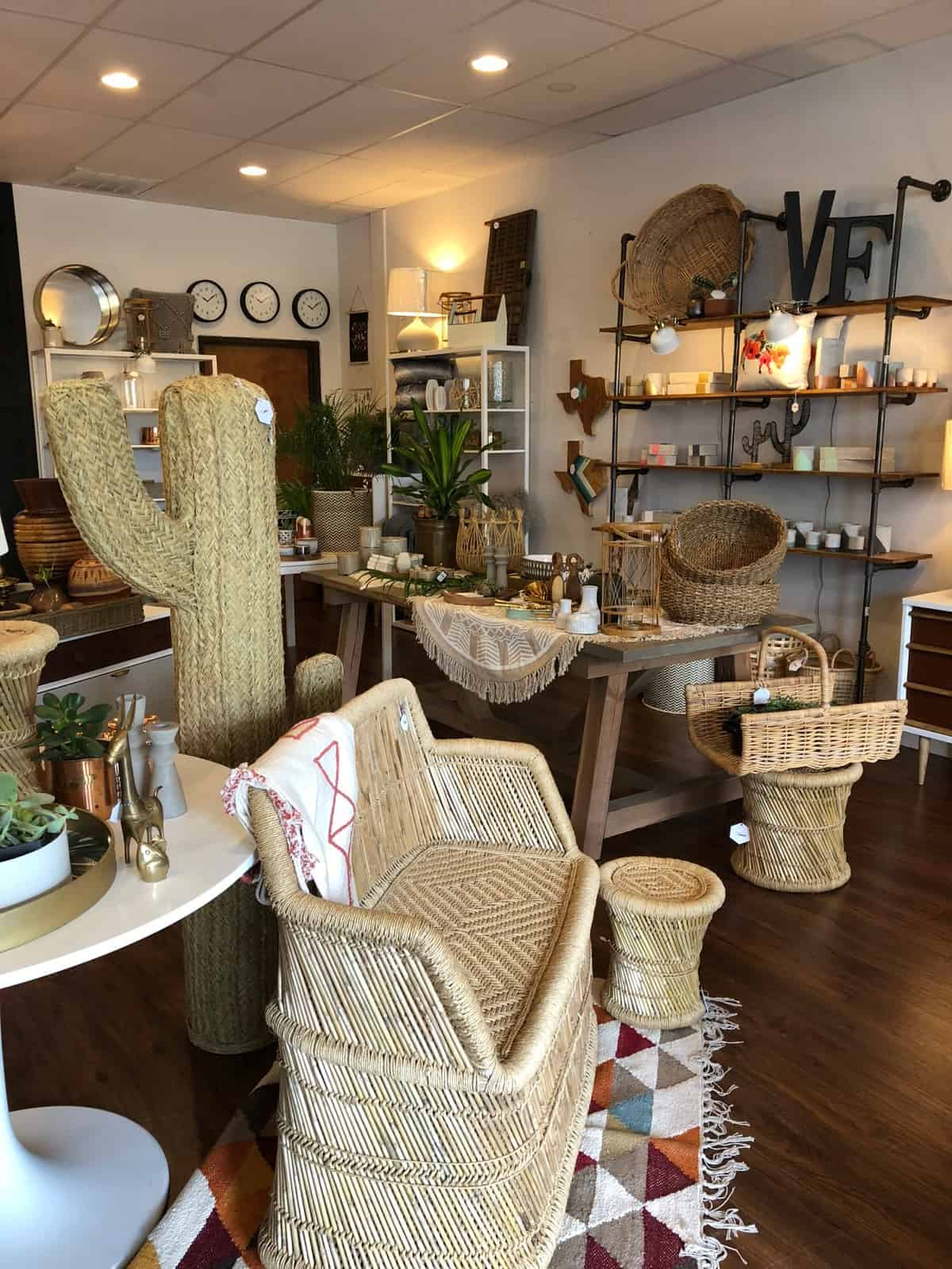 Inside of a cute vintage home store