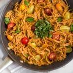 Creamy Sun Dried Tomato Pasta {vegan/whole30} Pinterest image