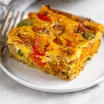Sausage egg breakfast casserole Pinterest image