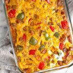 Sweet potato breakfast casserole Pinterest image