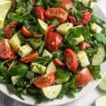 Chopped Tomato Cucumber Kale Salad Pinterest Image