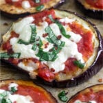 Eggplant Pizza Pinterest image