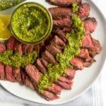 Grilled Steak with Pistachio Pesto (Paleo/Whole30) Pinterest image