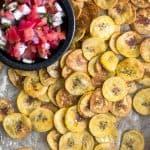Homemade Plantain Chips (Paleo) Pinterest Image
