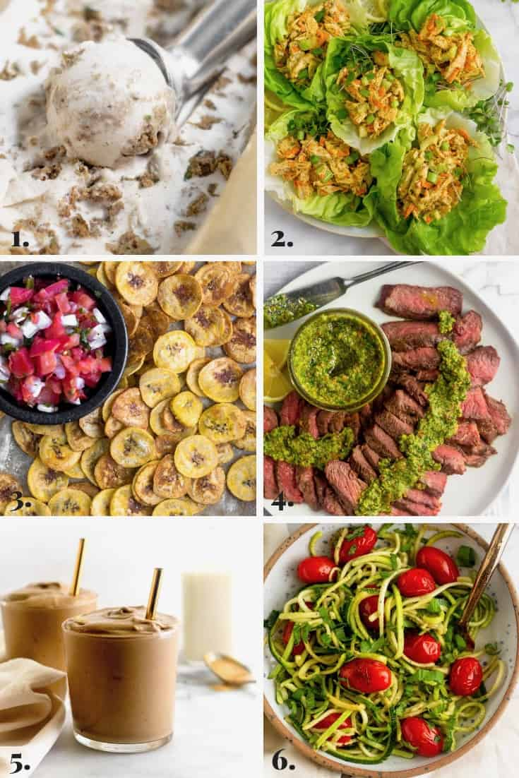 Collage of all the recipes made on Eat the Gains in August