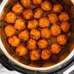 BBQ Chicken Meatballs Pinterest image