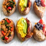 Whole30 Breakfast Stuffed Sweet Potatoes 3 Ways
