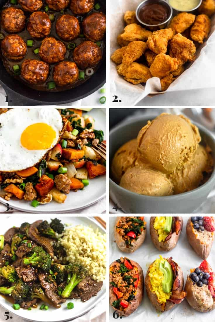 Collage of all the recipes made on Eat the Gains in September