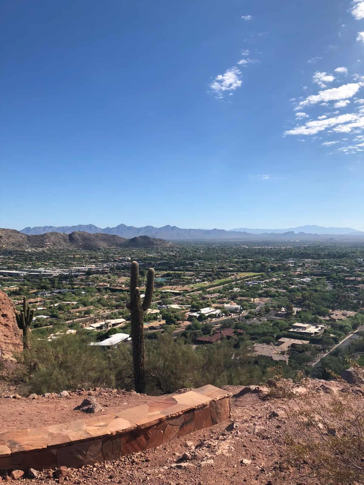 Landscape of Scottsdale, AZ from a mountain