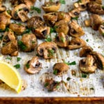 Roasted Mushrooms Pinterest Image