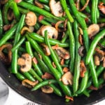 Green Beans with Mushrooms Pinterest image