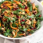 Kale Salad with Butternut Squash & Pomegranates Pinterest image