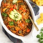 Spicy Chicken Enchilada Dip (Paleo/Whole30) Pinterest image