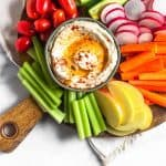 Paleo Cauliflower Hummus (Whole30) Pinterest image