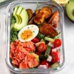 Meal Prep Smoked Salmon Breakfast Bowl (Paleo/Whole30) Pinterest image
