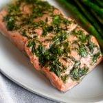 Air Fryer Salmon & Asparagus Pinterst image