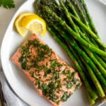Air Fryer Salmon & Asparagus
