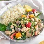 Balsamic Chicken & Veggies Skillet Pinterest image